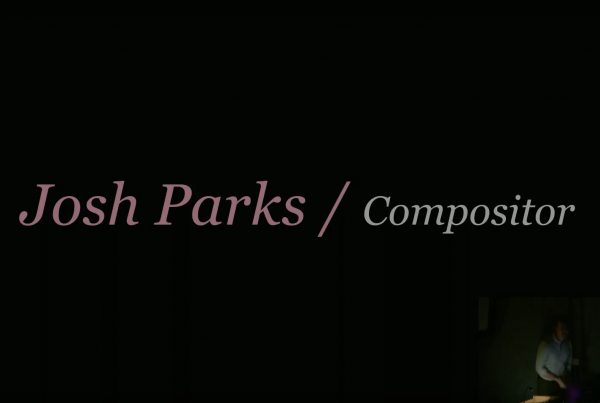 Compositing talk title card